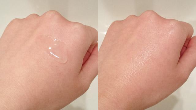 メコゾーム化粧水テクスチャ